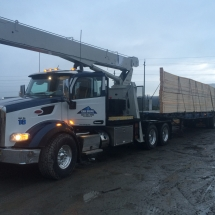 Concrete Retaining Walls, Blocks & Barriers | Train & Transportation Company | Can Ridge Industries Ltd. Unit 16, Stiff Boom Mobile Crane Truck Hauling Trusses