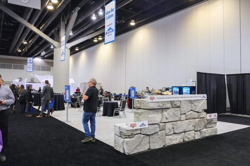 Can Ridge Industries Verti-Block Retaining wall system on display at Buildex 2017