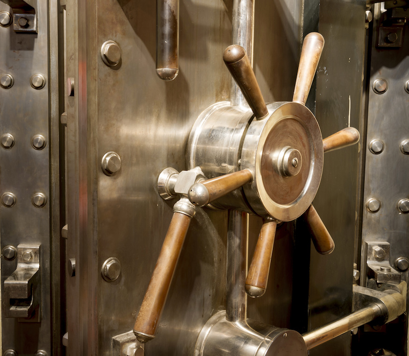 A heavy bank vault that needs to be relocated with industrial moving