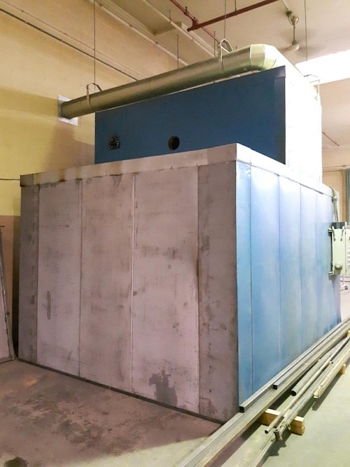 A large industrial oven that was moved by the industrial moving team at Can Ridge in British Columbia