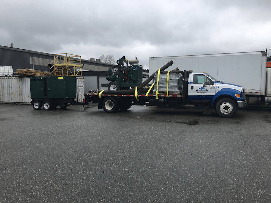 A F750 truck loaded up for an industrial moving job in Vancouver