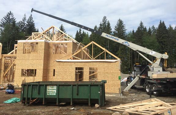 Stiff and Folding Boom Crane Services British Columbia   Can Ridge Industries Ltd.