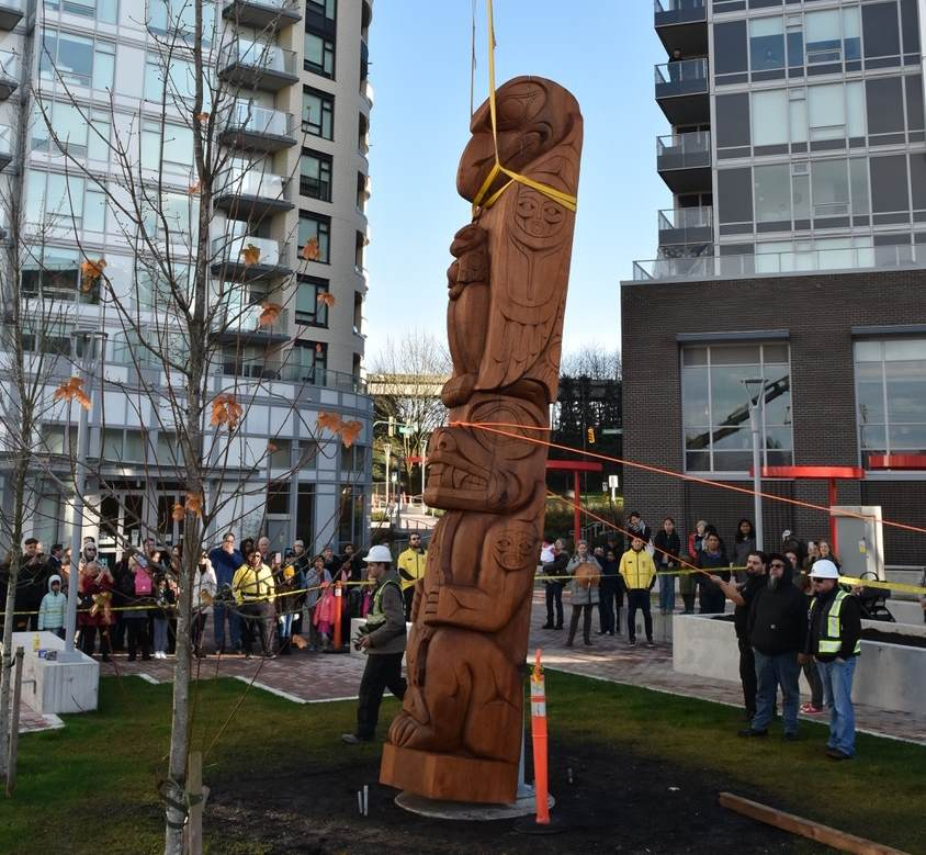 Raising Of A Totem Pole