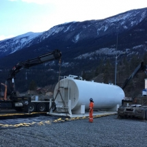 Large Fuel Tank to be Moved at Seton Hydro Station