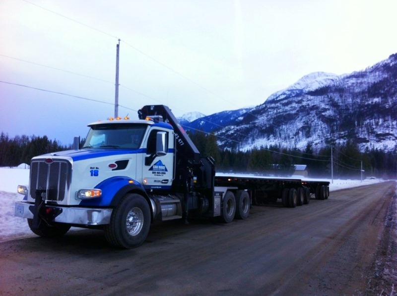 Can Ridge Truck Traveling Back to Vancouver, BC After a Container Move