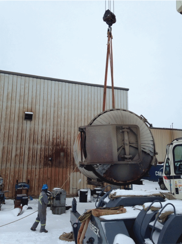 Can Ridge crane lifting autoclave for move