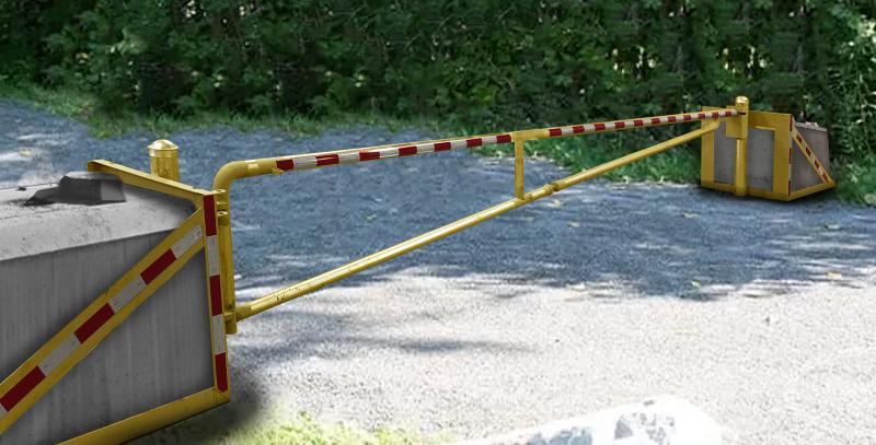 Portable Octa-Bloc Barrier Gate