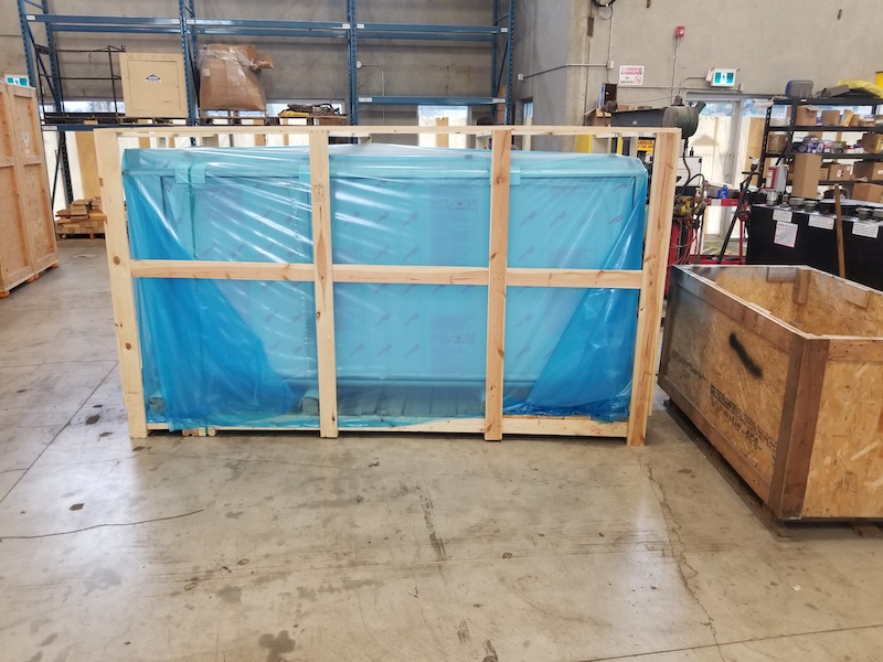 IPPC Crating And Overseas Transport Of A Manufacturing Facility