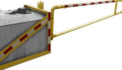 Portable Barrier Gate - Concrete Blocks