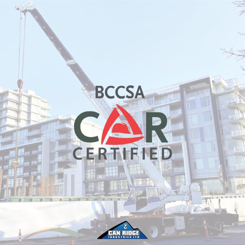 CAN RIDGE ACHIEVES BCCSA – COR® CERTIFICATION