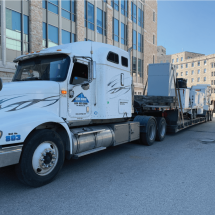 Can Ridge Industries's Low Bed Truck used for Hauling Industrial Equipment