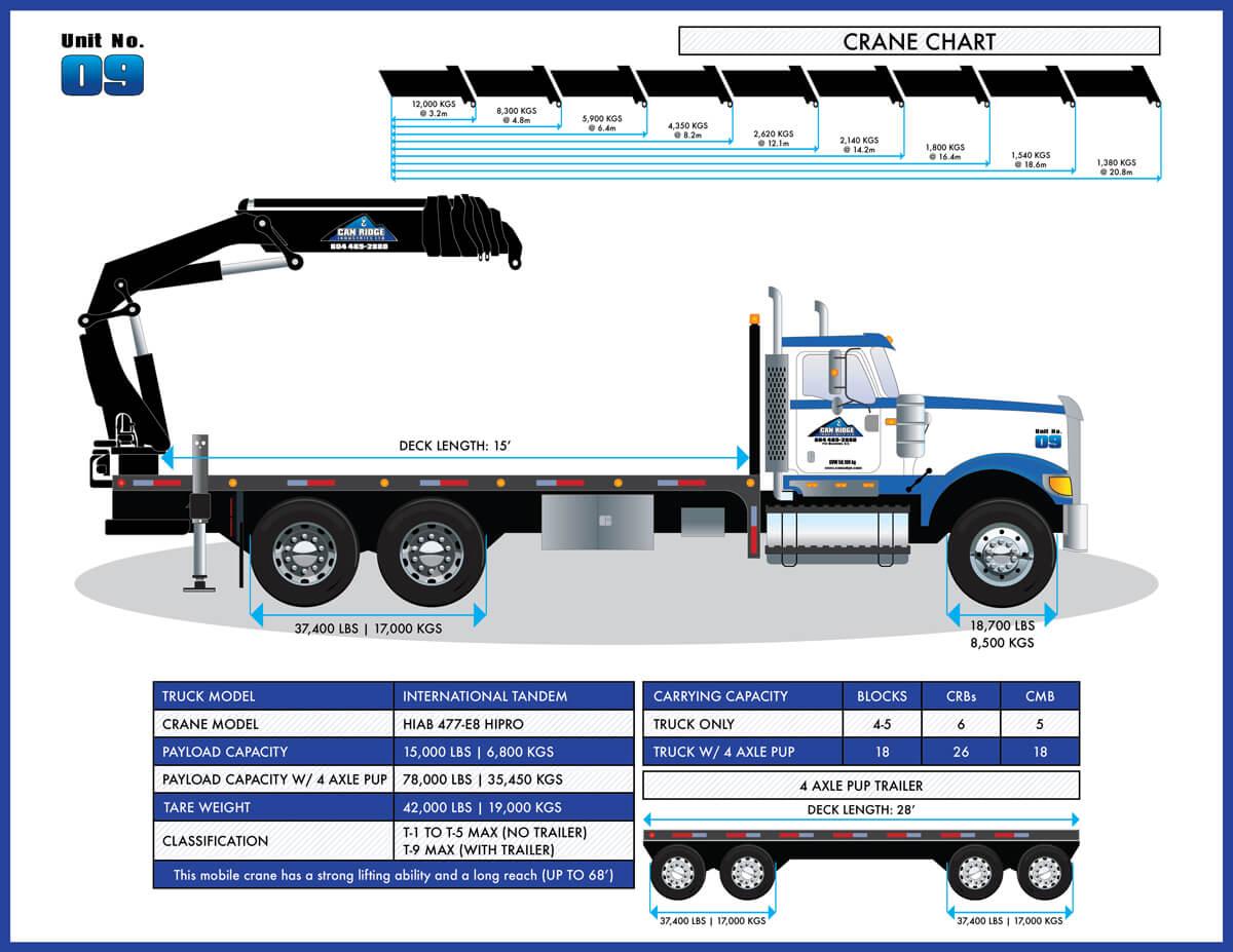 Can Ridge International Tandem HIAB Folding Boom Crane
