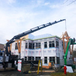 Cedar Gables Install with Mobile Crane