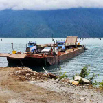 Water-Crossing Delivery of Concrete Blocks in BC